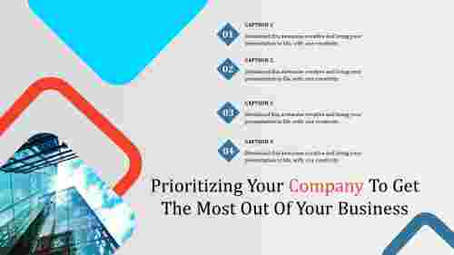company ppt templates-Prioritizing Your Company To Get The Most Out Of Your Business